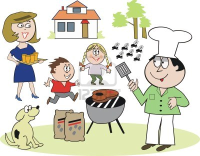 7429093 family barbecue cartoon1